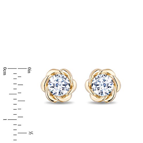enchanted_disney-belle_solitaire_earrings-14k_yellow_gold_1/2CTTW_2