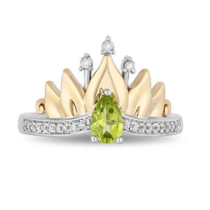 enchanted_disney-tiana-white_diamond_water_lily_tiara_ring-sterling_silver_and_10kt_yellow_gold_1/10CTTW