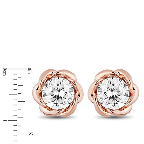 enchanted_disney-belle_solitaire_earrings-14k_pink_gold_1/2CTTW_2