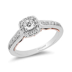 Enchanted Disney Fine Jewelry 10K White and Rose Gold With 1/2 cttw Diamond Ariel Engagement Ring