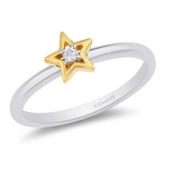 Enchanted Disney Fine Jewelry 10K White Gold and Yellow Gold Diamond Accent Tinker Bell Fashion Ring