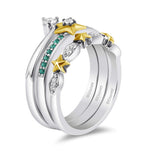 enchanted_disney-tinker-bell-white_diamond_trio_set-10k_yellow_gold_and_sterling_silver_1/5CTTW_3