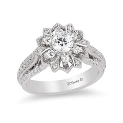 Enchanted Disney Fine Jewelry 14K White Gold 1Cttw Elsa Snowflake Ring