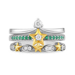 enchanted_disney-tinker-bell-white_diamond_trio_set-10k_yellow_gold_and_sterling_silver_1/5CTTW_2