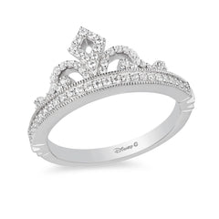 Enchanted Disney Fine Jewelry Sterling Silver 1/4Cttw Majestic Princess Tiara Ring
