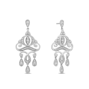 enchanted_disney-cinderella_carriage_earrings-14k_white_gold_1/2CTTW