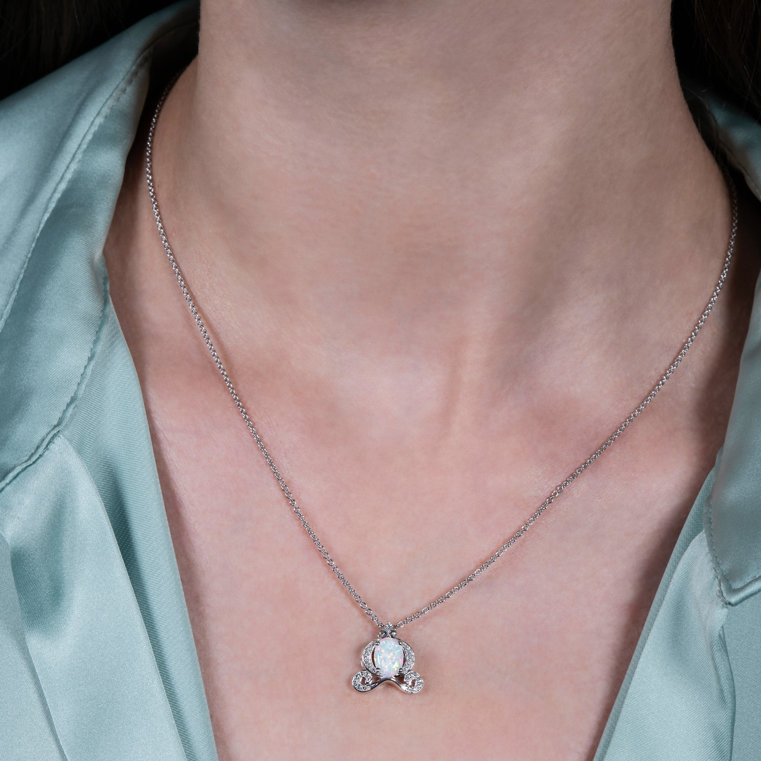 enchanted_disney-cinderella_lab_created_multicolored_opal_pendant-sterling_silver_1/10CTTW_1