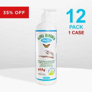 12 bottles - Alpha Handrub - 500ml (16.9 oz)