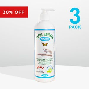 3 bottles - Alpha Handrub - 500ml (16.9 oz)