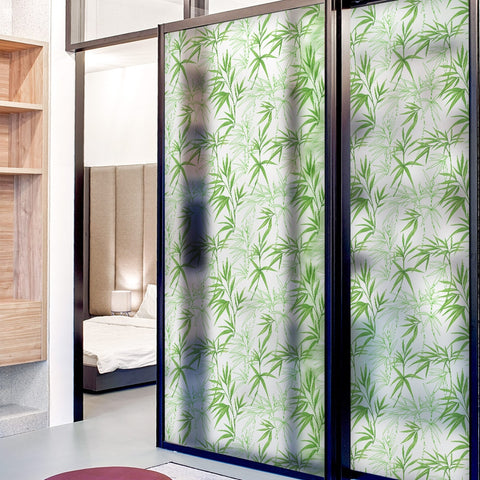 Decorative Window Film Vinyl Non Adhesive Privacy Film Stained Glass Window Film For Bathroom