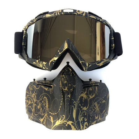Detachable Weatherproof Mask With Curved HD Lens