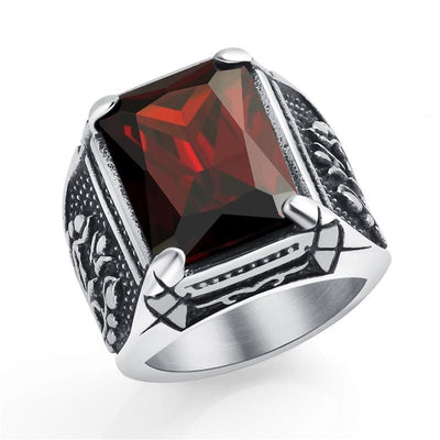 Bague Dragon Diamant (Acier) Rouge / 58 | Dragonance
