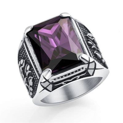 Bague Dragon Diamant (Acier) Violet / 58 | Dragonance
