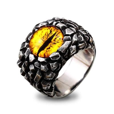 Bague Dragon Evil Eye (Acier) Jaune / 54.4 | Dragonance