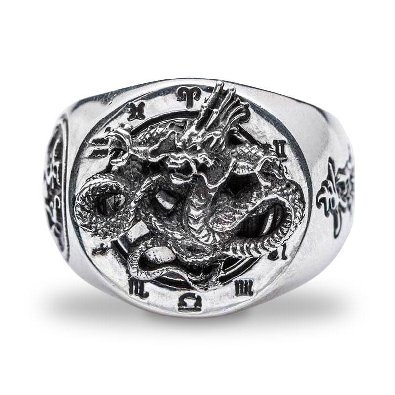 Bague Dragon Feng Shui (Argent) 58 | Dragonance