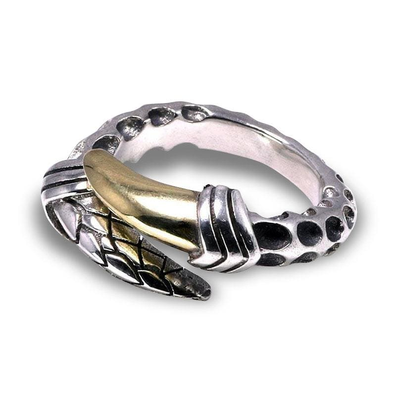 Bague Dragon Griffe d'Or (Argent) | Dragonance