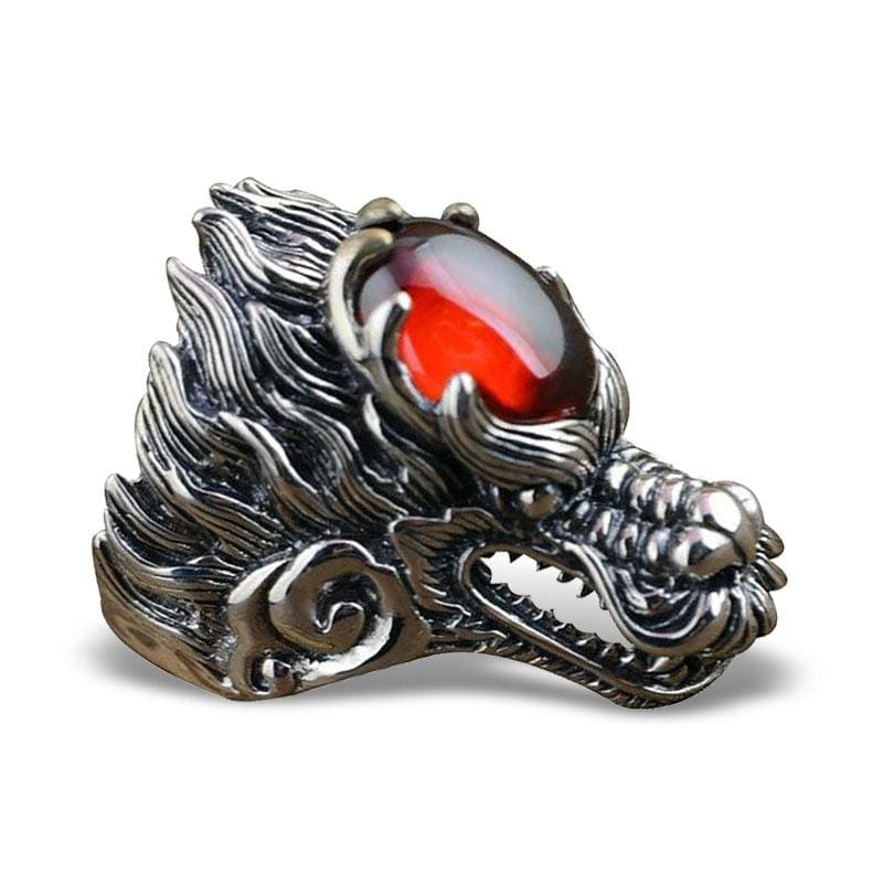 Bague Dragon Rubis (Argent) 59 | Dragonance