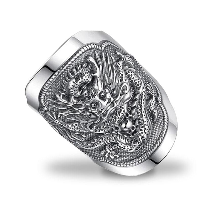 Bague Dragon Traditionnel (Argent) | Dragonance