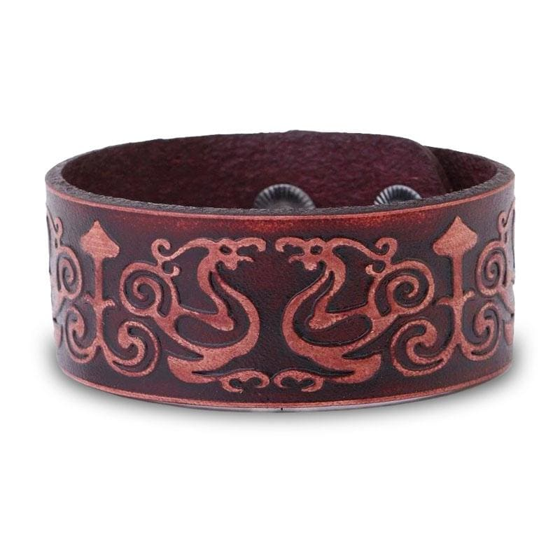 Bracelet Dragon Antique (Cuir) | Dragonance