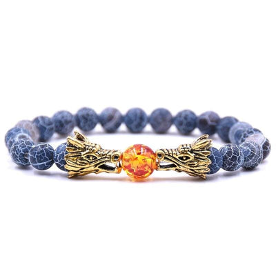 Bracelet Dragon Double Tête (Perles) Bleuet | Dragonance