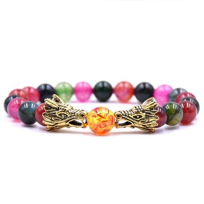 Bracelet Dragon Double Tête (Perles) Dragibus | Dragonance