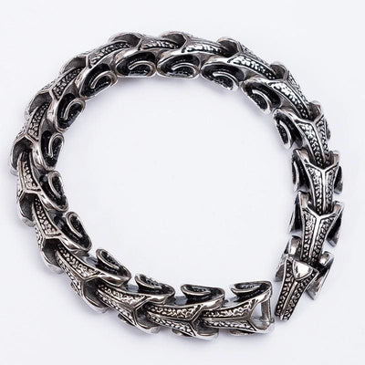 Bracelet Dragon Ouroboros (Acier) | Dragonance