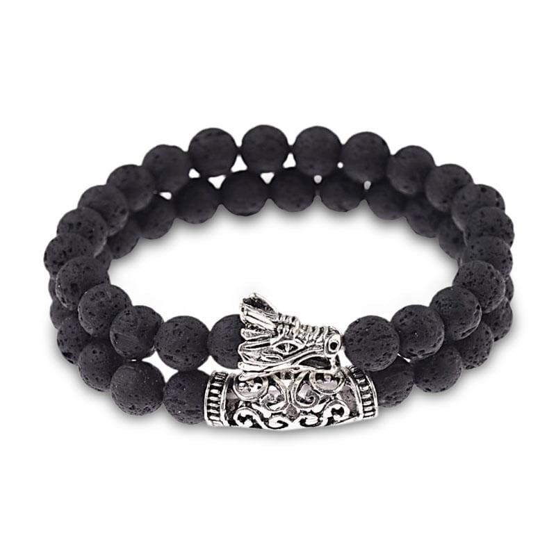 Bracelet Dragon Pierre Naturelle (Perles) Noir | Dragonance