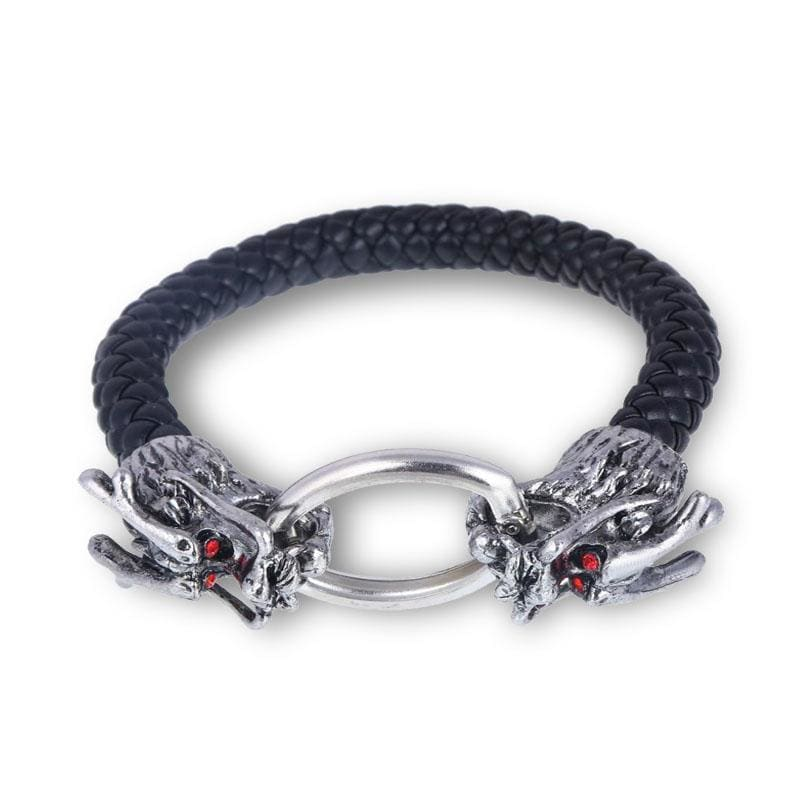 Bracelet Dragon Sang Noir (Cuir) | Dragonance