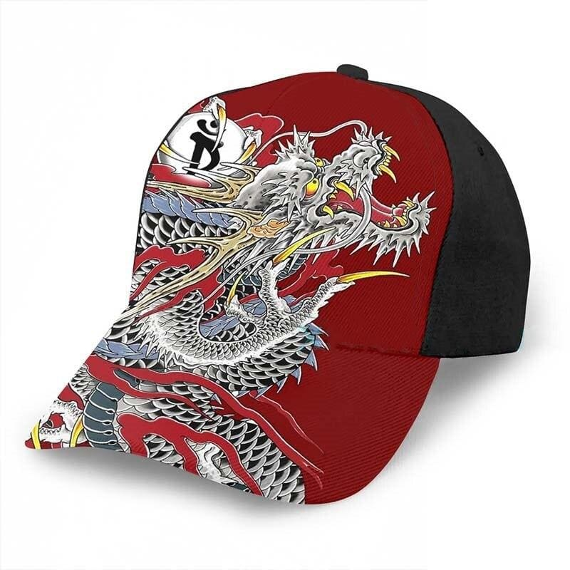 Casquette Dragon Streetwear Rouge | Dragonance