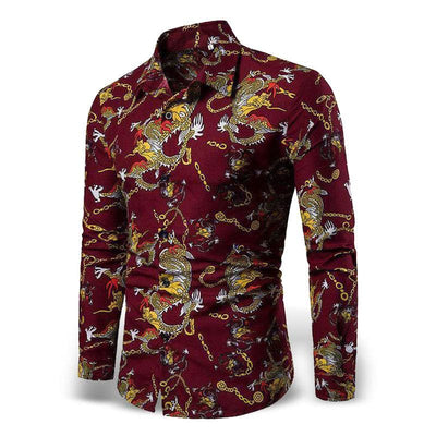 Chemise Dragon Céleste Rouge / M | Dragonance