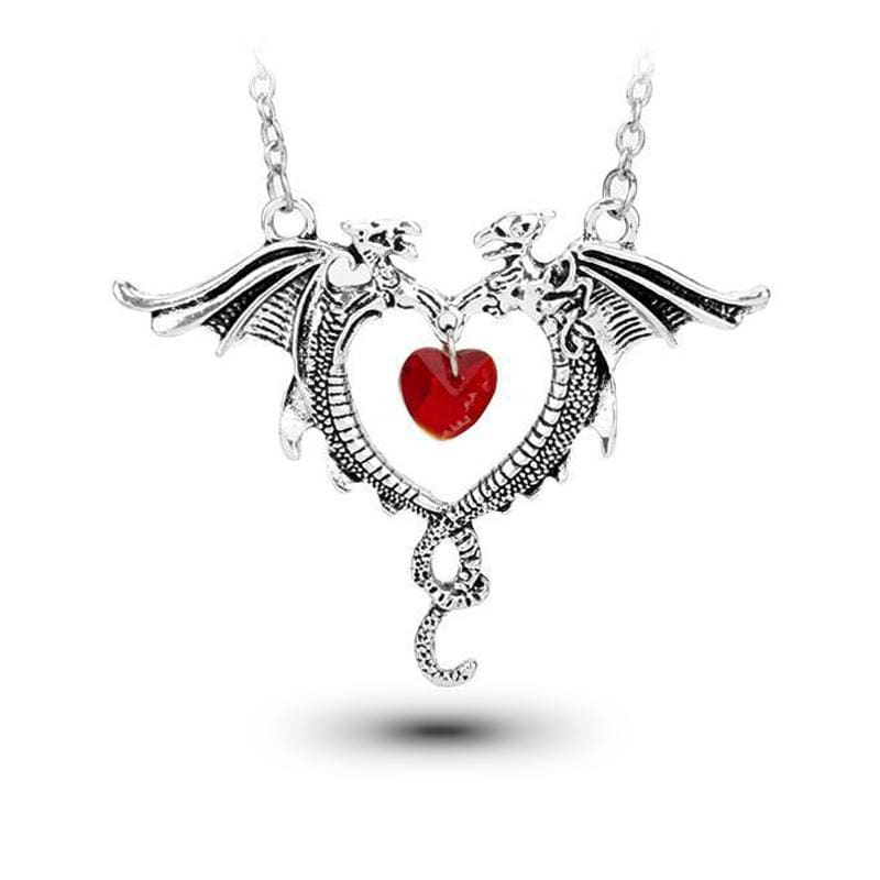 Collier Dragon Couple (Acier) | Dragonance