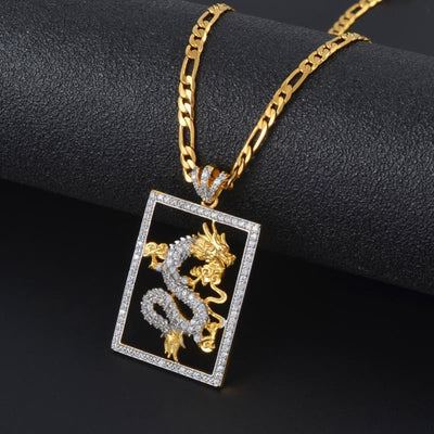 Collier Dragon Cristal (Acier) | Dragonance