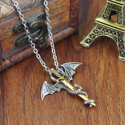 Collier Dragon Épée (Acier) | Dragonance
