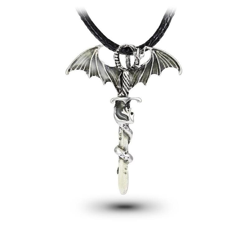 Collier Dragon Épée Magique (Cuir) | Dragonance