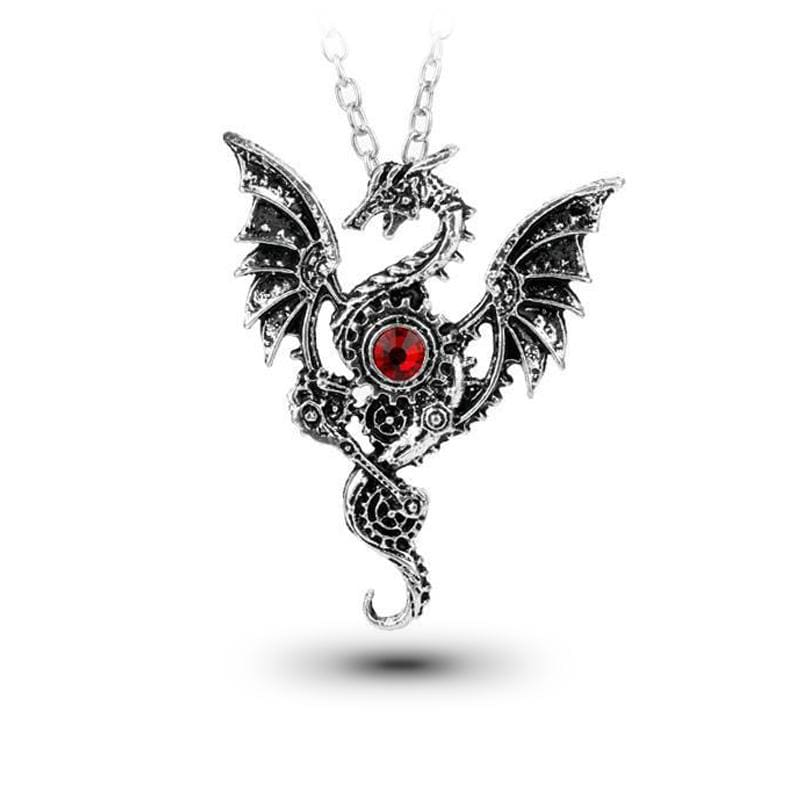 Collier Dragon Gothique (Acier) | Dragonance