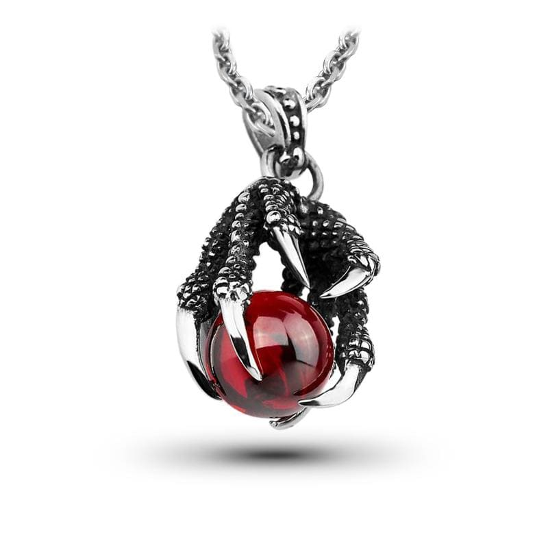Collier Dragon Rubis Rouge (Acier) | Dragonance