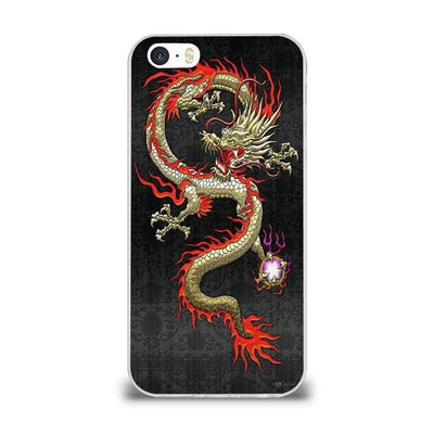 Coque iPhone Dragon Asiatique Noir / iPhone 6S Plus |
