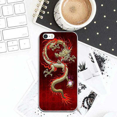 Coque iPhone Dragon Asiatique Rouge / iPhone 7 | Dragonance