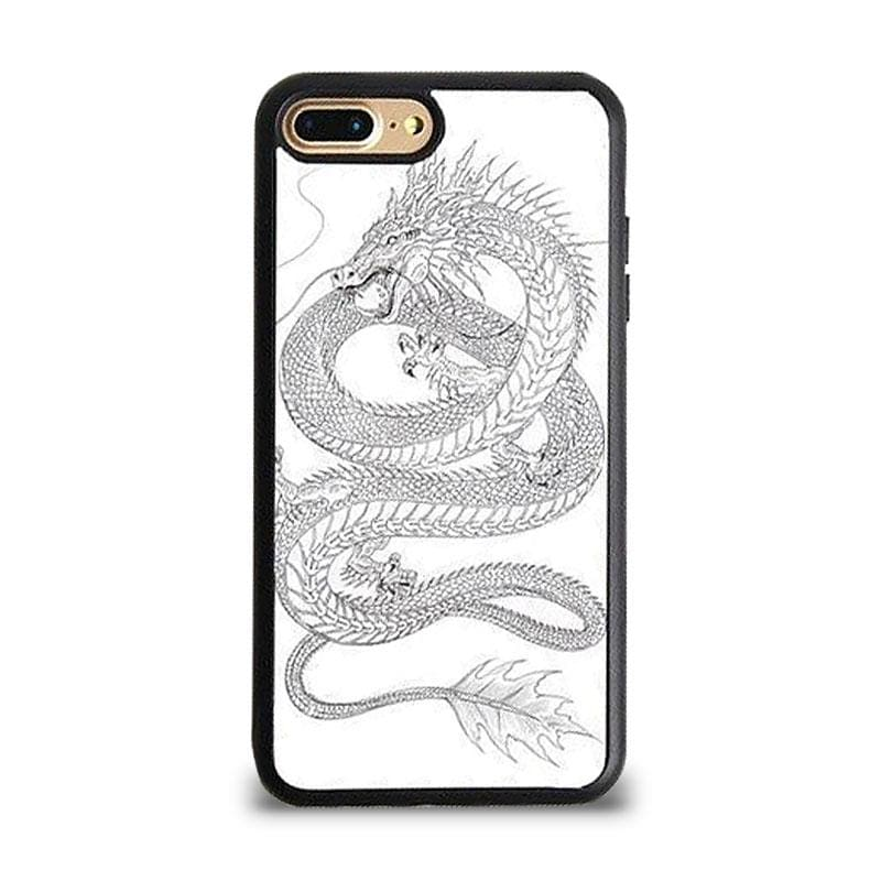 Coque iPhone Dragon Blanc iPhone 5 et 5S SE | Dragonance