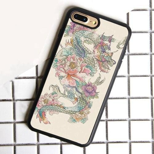 Coque iPhone Dragon Floral iPhone 5 et 5S SE | Dragonance