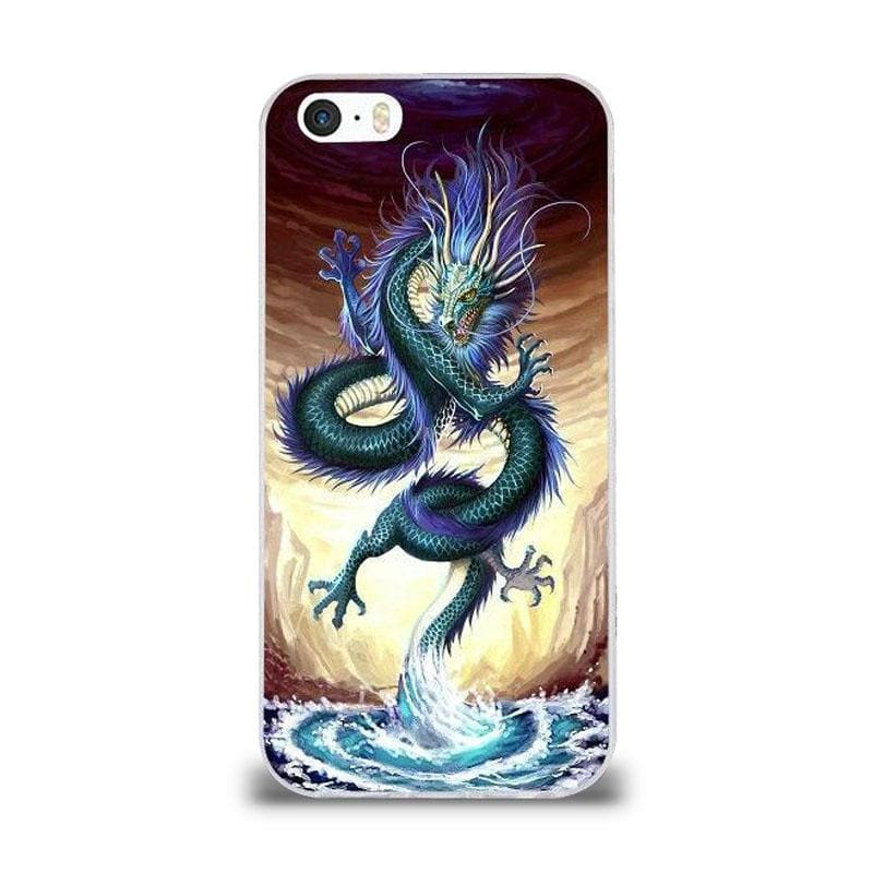 Coque iPhone Dragon Mer Bleu iPhone 5 et 5S SE | Dragonance