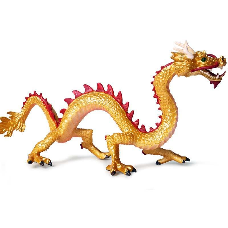 Figurine Dragon Chinois Jaune (Plastique) | Dragonance