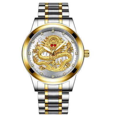 Montre Dragon Chinois Argent Blanc | Dragonance