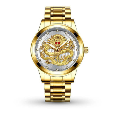 Montre Dragon Chinois Or Blanc | Dragonance