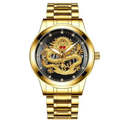 Montre Dragon Chinois Or Noir | Dragonance