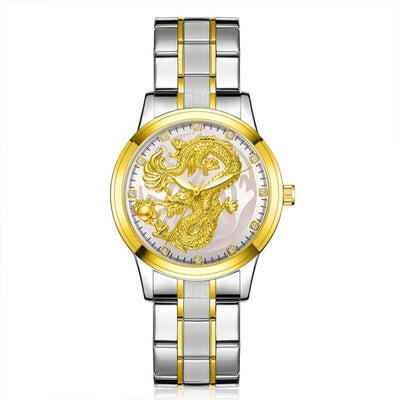 Montre Dragon Mythologique Argent - Blanc | Dragonance