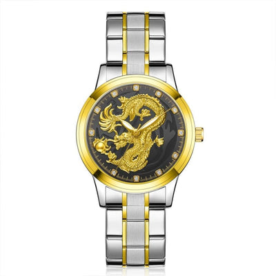 Montre Dragon Mythologique Argent - Noir | Dragonance