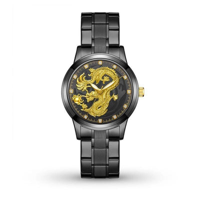 Montre Dragon Mythologique Noir | Dragonance