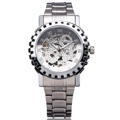 Montre Dragon Rouage Apparent Argent | Dragonance