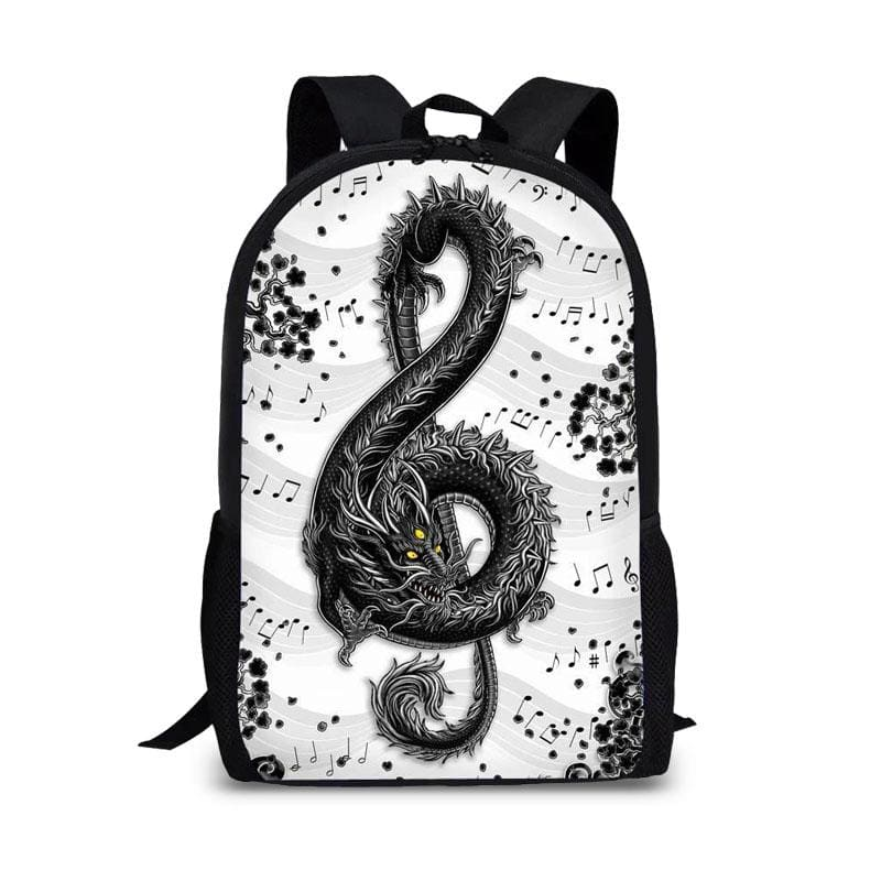 Sac à Dos Dragon Clef de Sol Blanc | Dragonance